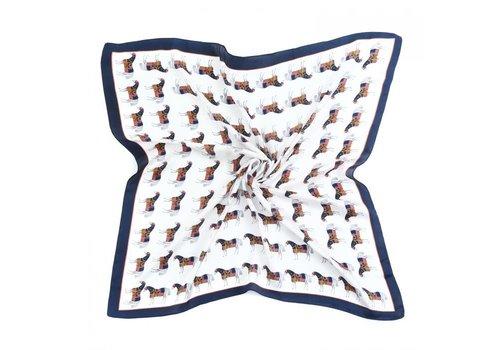 Peach Accessories Peach F676 Horses print scarf