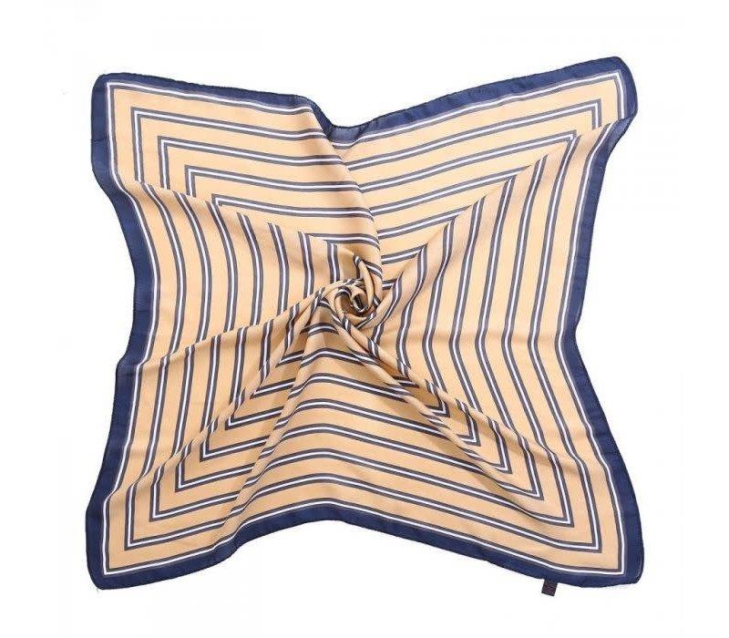 Peach F667 Beige striped scarf