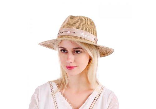 Peach Accessories Peach WH148 Gold straw hat