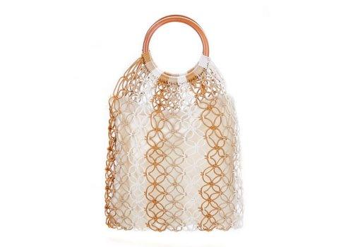 Peach Accessories Peach 588 straw bag in Beige