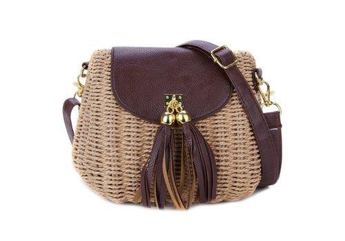 Peach Accessories Peach 217 Brown straw bag with tassels