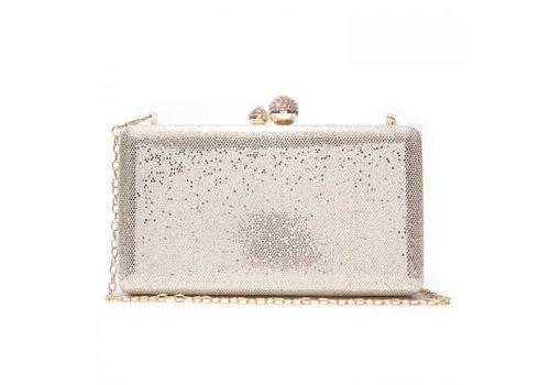 Peach Accessories Peach JH020 Pale gold clutch