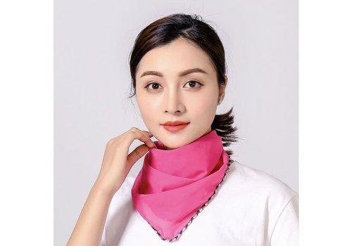 Peach Accessories Peach scarf MASK Plain Fuchsia