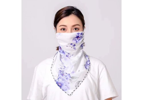 Peach Accessories Peach scarf MASK Purple floral