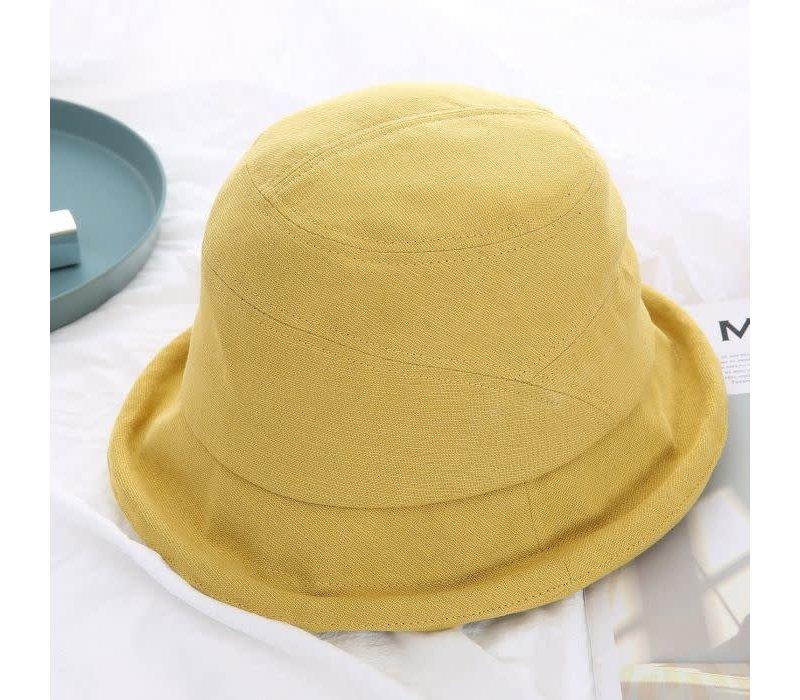 Peach Rai 002 Mustard Cotton mix hat