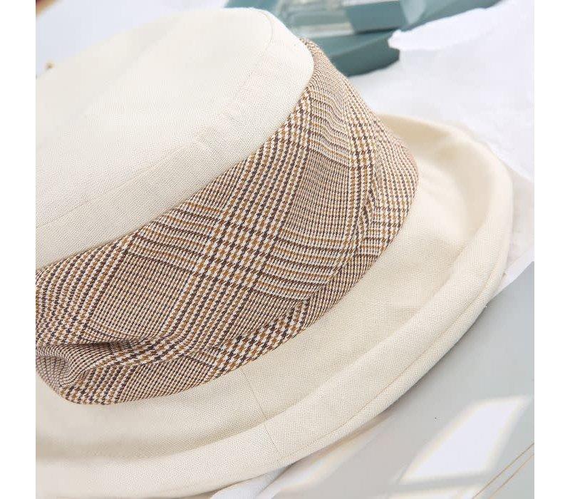 Peach Rai 007 Beige cotton mix hat