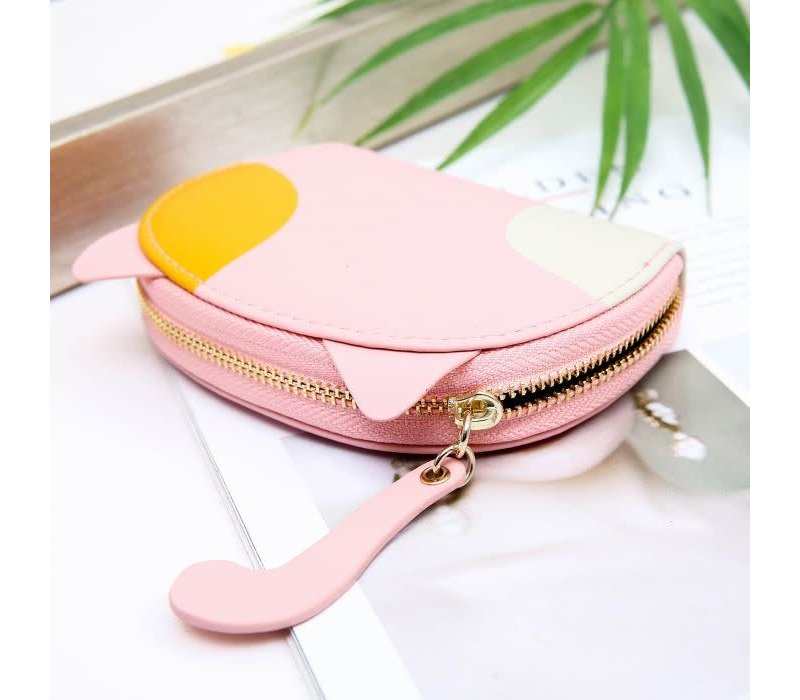 Peach pur021 Baby pink credit card holder
