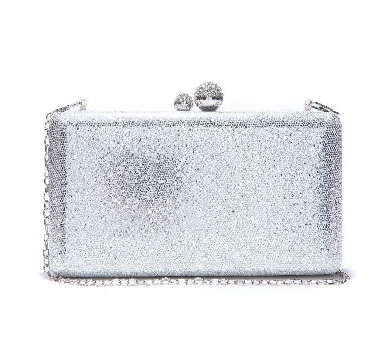 Peach JH020 Silver clutch