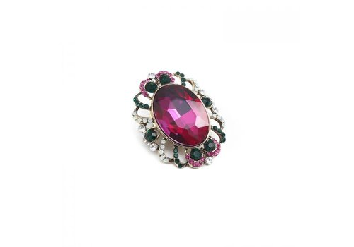 Peach Accessories Peach 1520 magnetic jewelled Brooch
