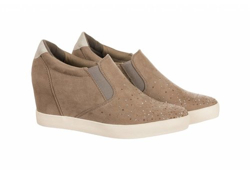 Sprox Sprox 392193 Taupe wedge sneaker