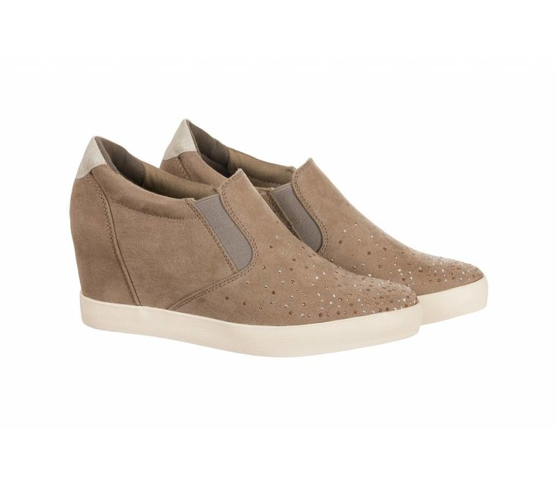 Sprox 392193 Taupe wedge sneaker