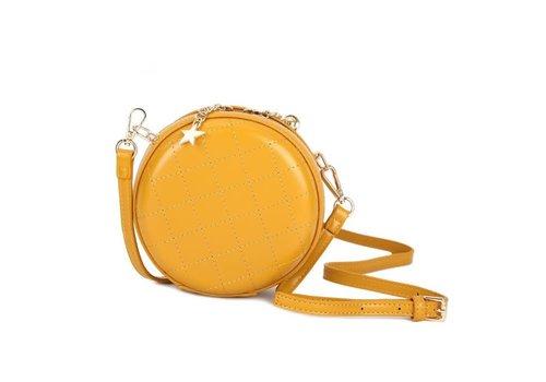 Peach Accessories Peach 8010 Mustard circle cross body bag
