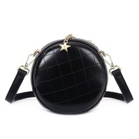 Peach 8010 Black circle cross body bag