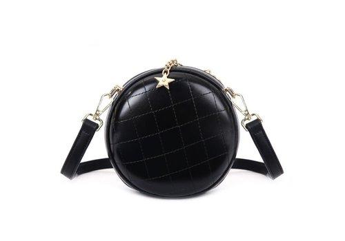 Peach Accessories Peach 8010 Black circle cross body bag