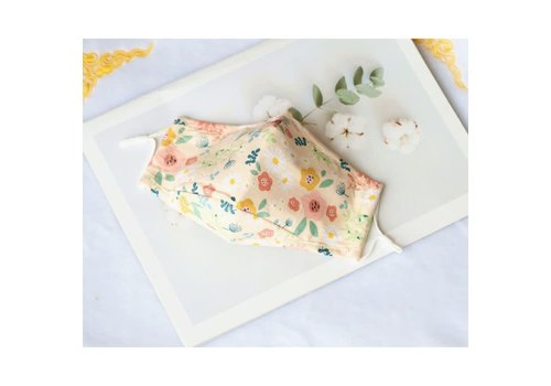 Peach Accessories Peach 0003 Yellow flowers cotton mask