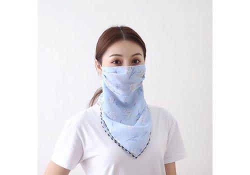 Peach Accessories Peach Blue cotton flower scarf masks