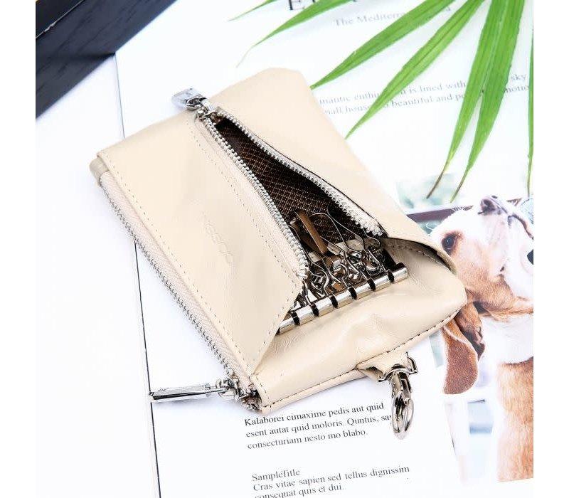 Peach PUR019 Key purse in Cream