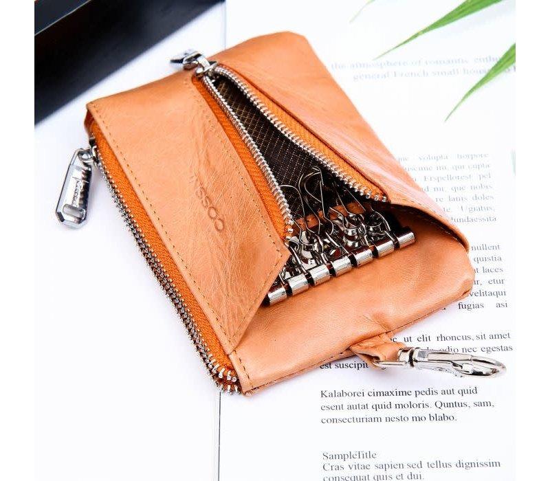 Peach PUR019 Key purse in Coral