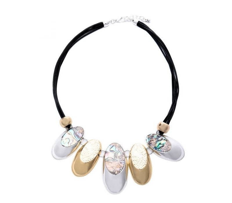 Peach 103A-39 Gold necklace