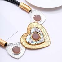 Peach 103A-41 Black/Gold Necklace