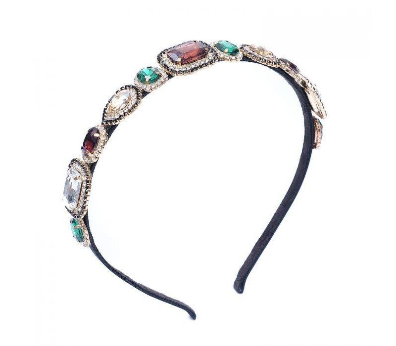 Peach HACH111 Multi jewel Hairband