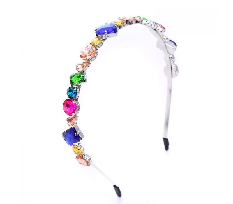 Peach HACH119 vibrant jewel Hairband