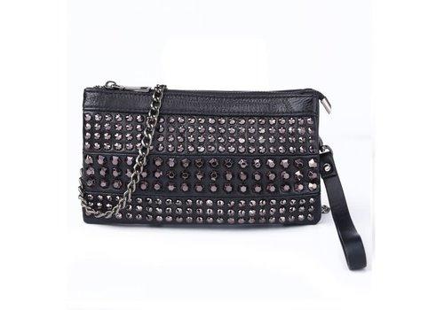 Peach Accessories Peach 1232 Black leather Bag