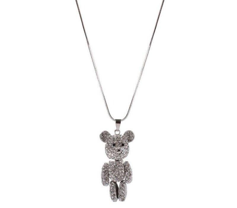 Peach ER040 Crystal Bear chain