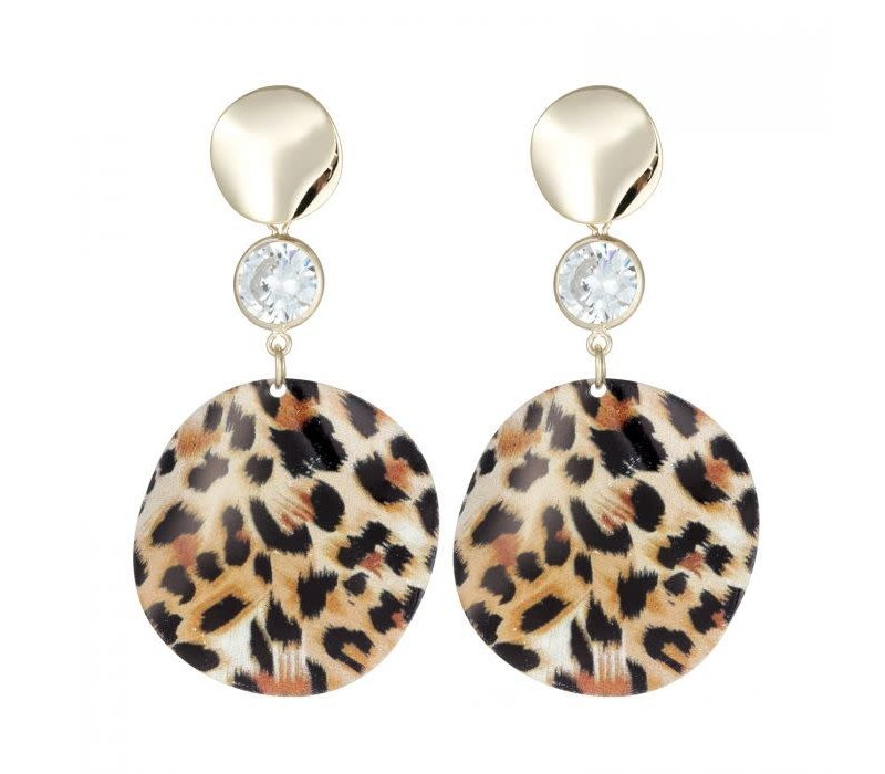 Peach ER018 Leopard print Earrings