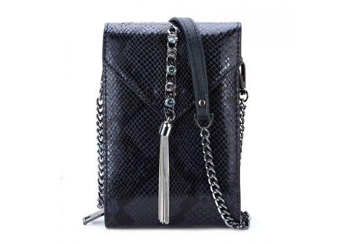 Peach Accessories Peach 88966-1 Black Leather crossbody
