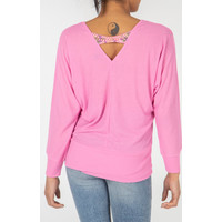 Oversized Top with Beaded back detail Pink