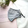 Peach Accessories Peach 0003 Plain Grey Cotton Mask