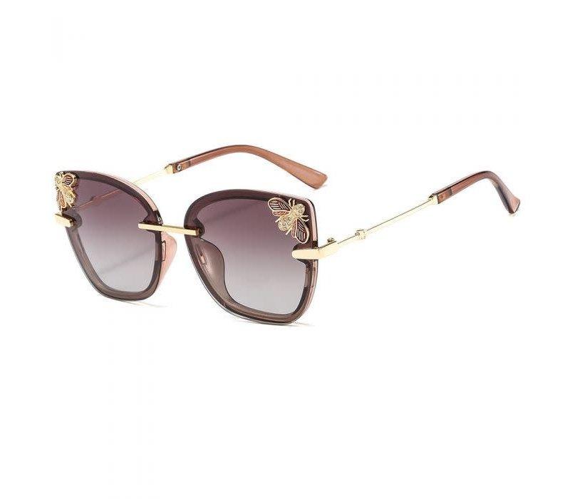 Peach 449 Jewelled Bee Sunglasses