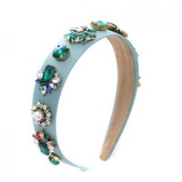 Peach HACH120 Green Jewel Hairband