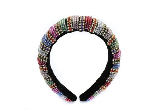 Peach HACH200 Multi colour jewel Hairband