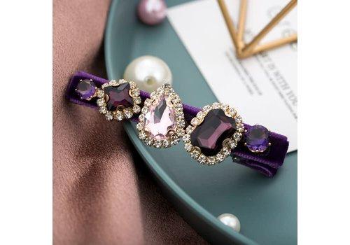 Peach Accessories Peach HA204 Purple Crystal Hair Clip
