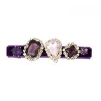 Peach HA204 Purple Crystal Hair Clip