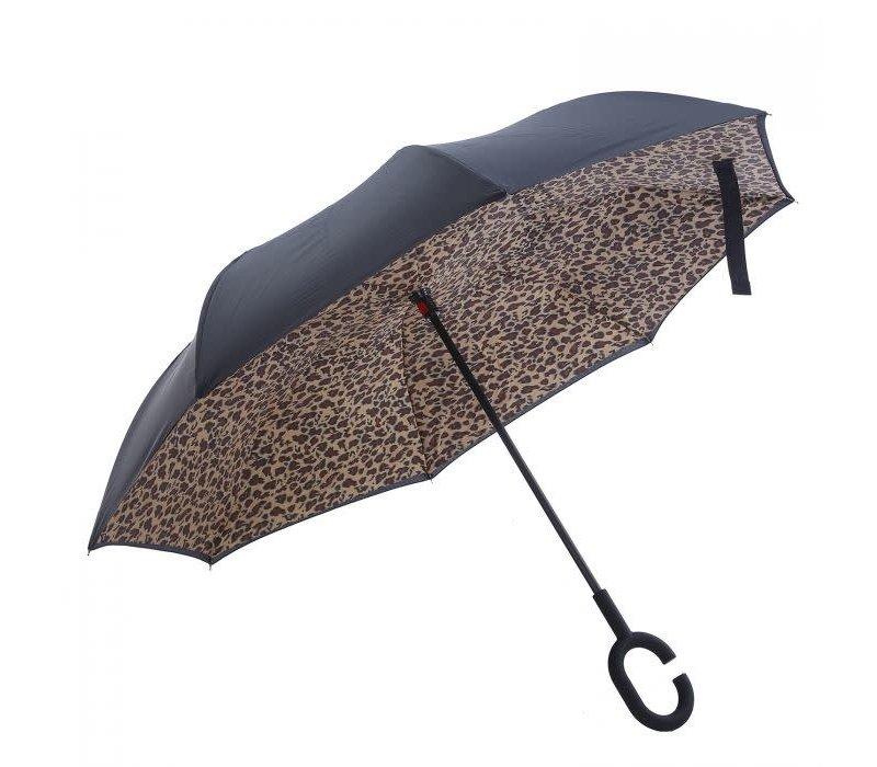 Peach F716 Leopard print Umbrella