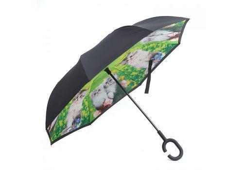 Peach Accessories Peach F910-1 Green Lovely Cat Umbrella