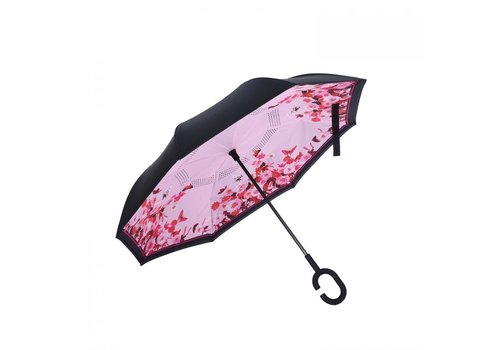 Peach Accessories Peach F721 Pink Butterflies Umbrella