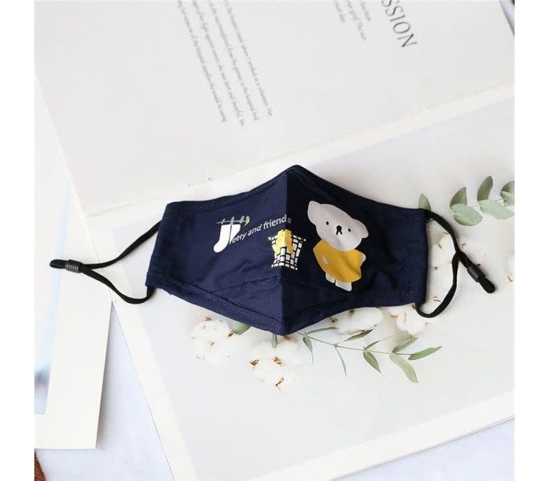 Peach Little bear Navy Childs Mask