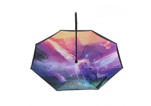 Peach Accessories Peach F913-1 Heavenly Horse Lilac Umbrella