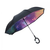 Peach F913-1 Heavenly Horse Lilac Umbrella