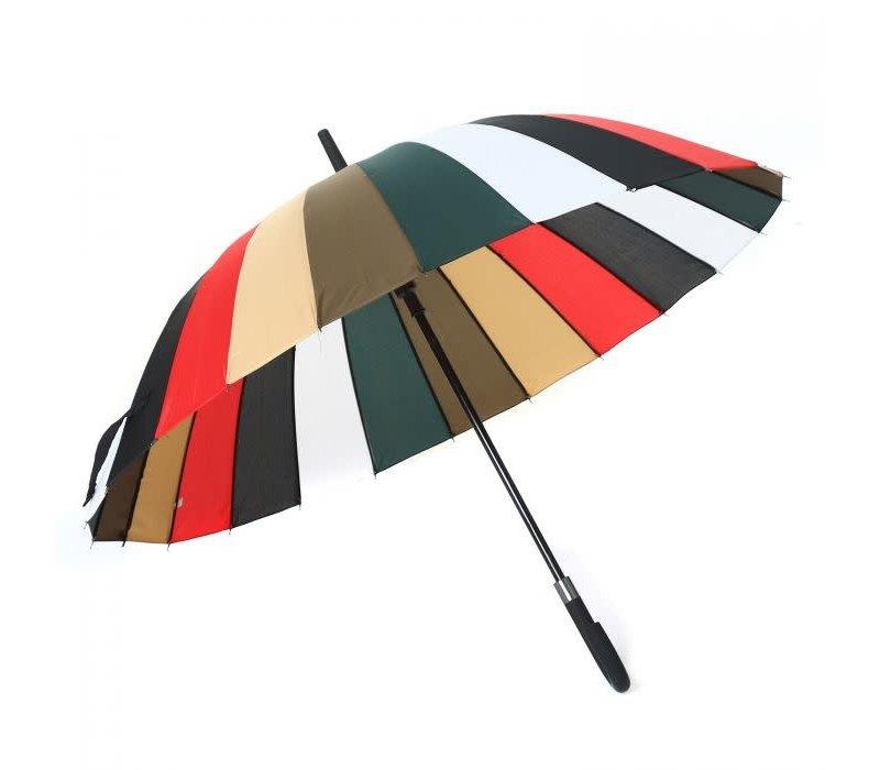 Peach RST903 multi stripe umbrella