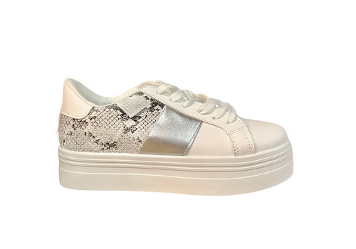 Sprox Sprox B377690 White/snake/silver sneakers
