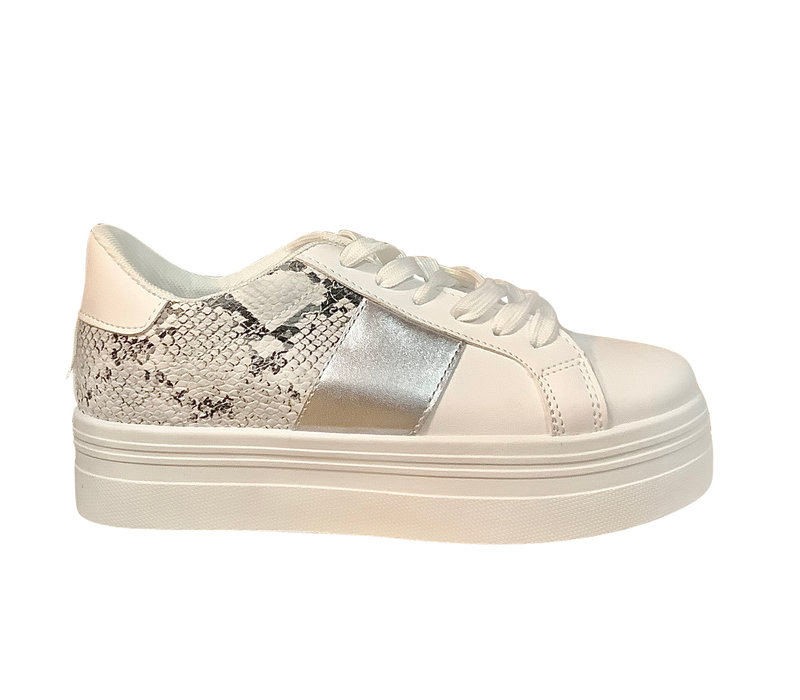 Sprox B377690 White/snake/silver sneakers