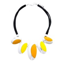 Peach 103A-40 Yellow/Orange necklace