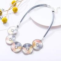 Peach 103A-45 Silver/peach necklace