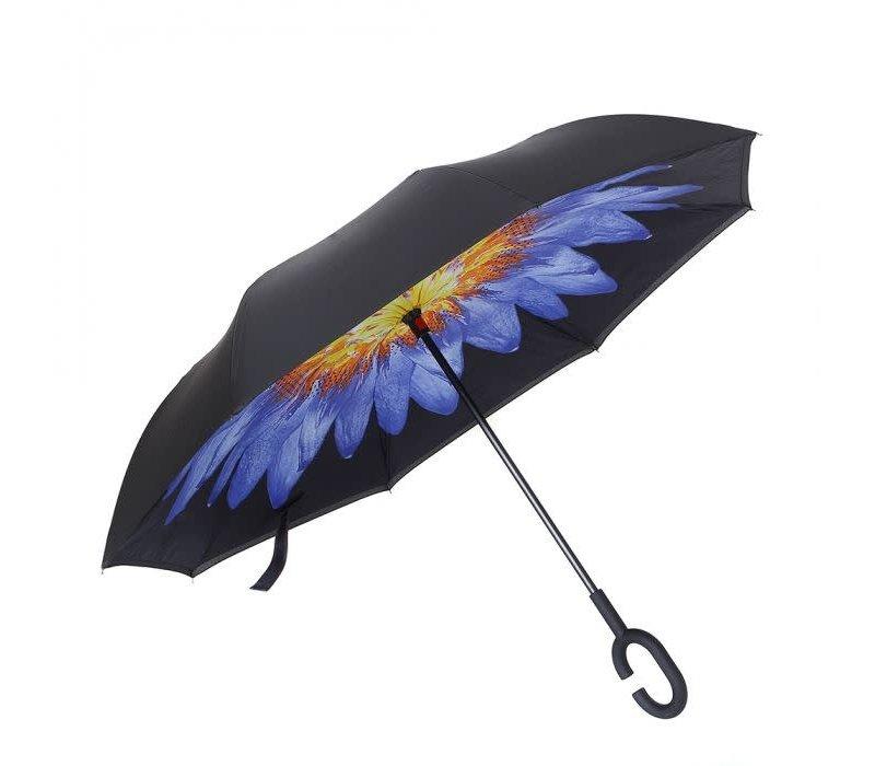 Peach P114 Purple flower Umbrella