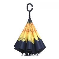 Peach P3 Yellow Sunflower Umbrella